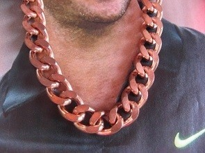 20 Inch Length Solid Copper Chain CN623G - 1/2 an inch wide