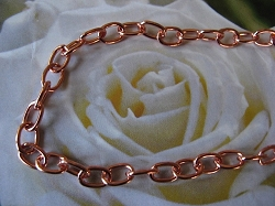 24 Inch Length Solid Copper Chain CN627G -  3/16 of an inch wide.