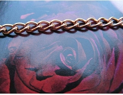Solid Copper Anklet CA609G - 1/8 of an inch wide - Available in 8 to 11 inches lengths