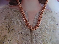 18 Inch Length Solid Copper Chain CN712G -  3/16 of an inch wide