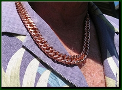 20 Inch Length Solid Copper Chain CN638G -  7/16 of an inch wide