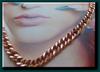 20 inch Length Solid Copper Chain CN652G - 1/4 of an inch wide