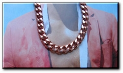 24 Inch Solid Copper Bracelet CN661G  - 3/8 of an inch wide