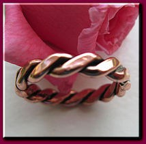 Copper Ring CR021- Size 9 - 1/8 of an inch wide.