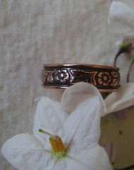 Copper Ring CR032 Size 7 - 1/4 of an inch wide.
