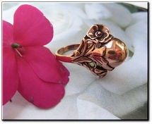 Copper Ring CR035 - Size 9 - 3/8 of an inch tall.