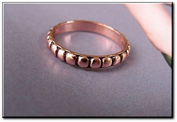 Copper Ring CR064 - Size  7 - 1/8 of an inch wide.