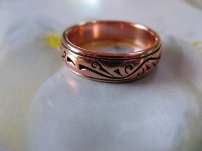 Copper Ring CTR1885 Size 6 - 3/16 of an inch wide.