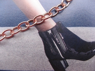 Solid Copper Anklet CA722G - 3/16 of an inch wide - Available in 8 to 11 inches lengths