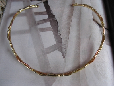 Brass, Nickel and Copper Tri - Metal Choker 807JE