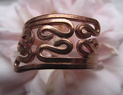 Copper Ring CR101 - Size 7 - 5/8 of an inch wide.