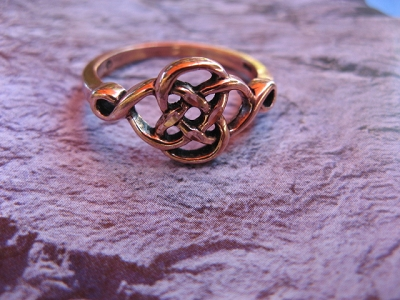 Copper Ring CR091 - Size 8 - 3/8 of an inch wide.