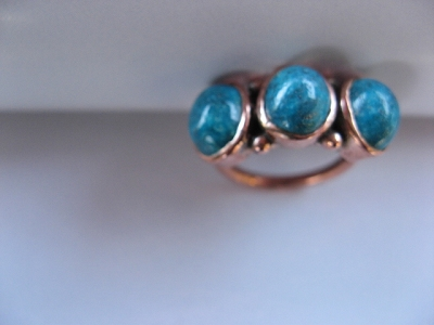 Copper Ring CR2033- Size 5  - 3/8 of an inch wide