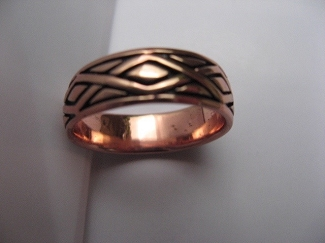 Copper Ring CTR568 - Size 11 - 1/4 of an inch wide.