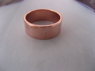 Copper Ring CR50T Size 12 - 5/16 of an inch wide. 8MM - Thick